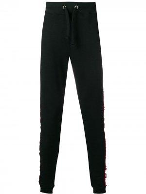 Спортивные брюки с лампасами Alpha Industries. Цвет: черный