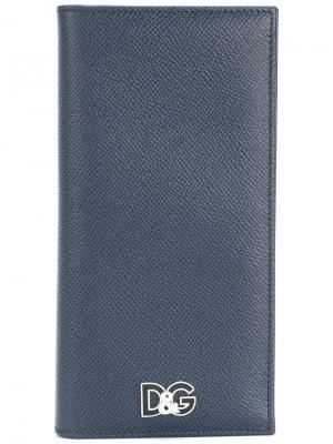 Кошелек с логотипом Dolce & Gabbana. Цвет: синий