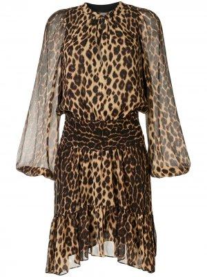 Платье Sidney с леопардовым принтом A.L.C.. Цвет: синий