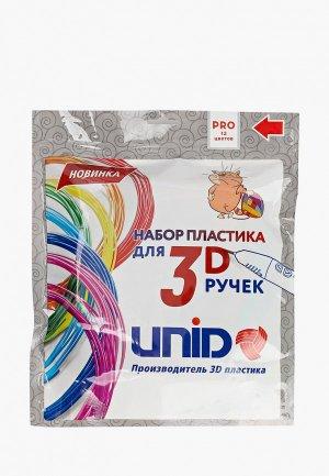 Набор для творчества Unid пластика 3D ручек PRO-12, 12 цветов по 10 м.. Цвет: разноцветный