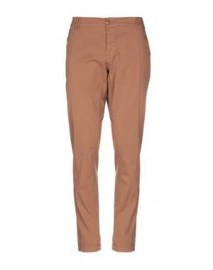 Повседневные брюки CYCLE. Цвет: коричневый