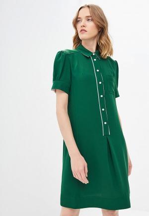 Платье Calvin Klein. Цвет: зеленый