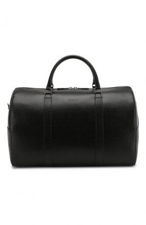 Кожаная дорожная сумка Canali. Цвет: чёрный