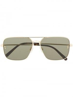 Солнцезащитные очки-авиаторы Stella McCartney Eyewear. Цвет: золотистый