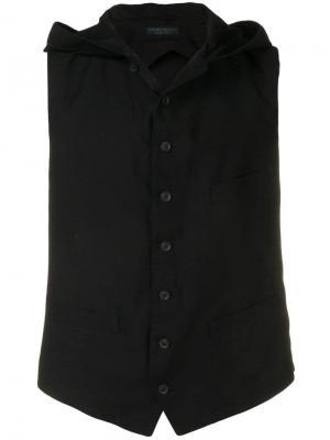 Жилет с открытой спиной Yohji Yamamoto. Цвет: черный