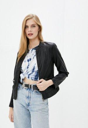 Куртка кожаная Mavi ZIP UP JACKET. Цвет: черный