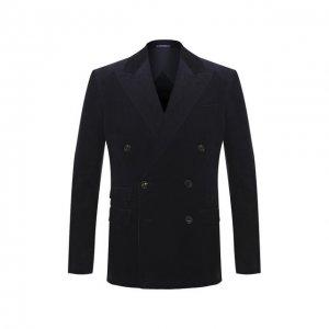 Хлопковый пиджак Ralph Lauren. Цвет: синий