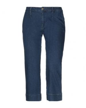 Джинсовые брюки-капри MARIELLA ROSATI. Цвет: синий