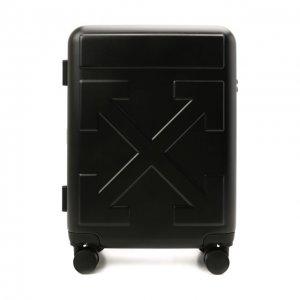 Дорожный чемодан Off-White. Цвет: чёрный