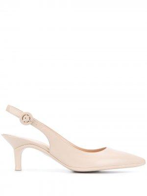 Туфли Anna с ремешком на пятке Gianvito Rossi. Цвет: нейтральные цвета