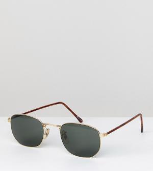 Квадратные солнцезащитные очки в золотистой оправе Inspired эксклюзивно для ASOS Reclaimed Vintage. Цвет: золотой