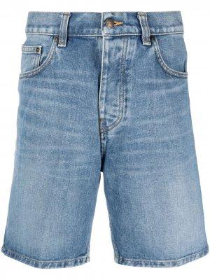 Джинсовые шорты с нашивкой-логотипом Carhartt WIP. Цвет: синий