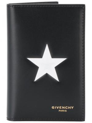 Визитница с контрастной звездой Givenchy. Цвет: чёрный