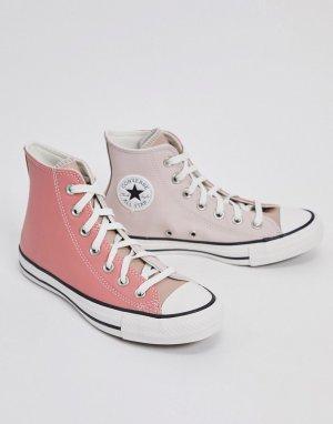 Розовые высокие кеды Chuck Taylor All Star-Красный Converse