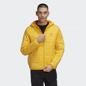 Утепленная куртка Trefoil Originals adidas. Цвет: золотой