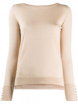 Пуловер с кристаллами Swarovski Snobby Sheep. Цвет: нейтральные цвета