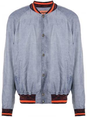 Куртка-бомбер с отделкой в полоску Missoni. Цвет: серый