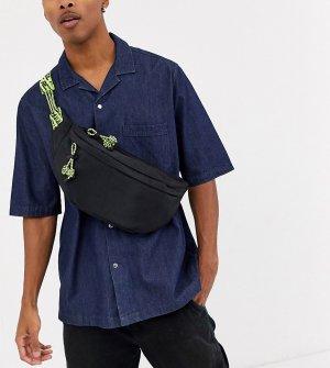 Большая сумка-кошелек на пояс в стиле унисекс -Черный Reclaimed Vintage