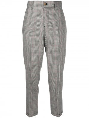 Укороченные брюки в клетку Prince of Wales Pt01. Цвет: черный