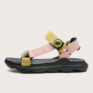 Контрастные спортивные сандалии для девочек SHEIN. Цвет: многоцветный