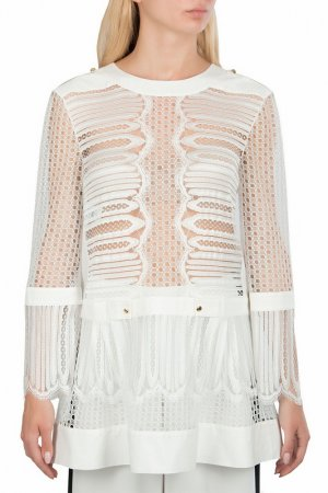 Блуза Alberta Ferretti. Цвет: белый