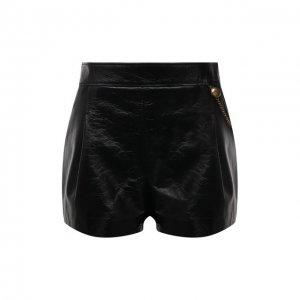 Кожаные шорты Givenchy. Цвет: чёрный