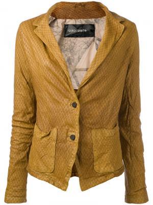 Кожаная куртка Giorgio Brato. Цвет: телесный