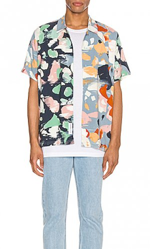 Рубашка с коротким рукавом terrazzo Native Youth. Цвет: navy,baby blue