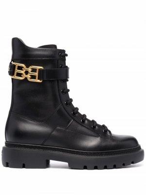 Logo-plaque combat boots Bally. Цвет: черный