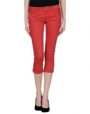 Джинсовые брюки-капри REPLAY. Цвет: красный