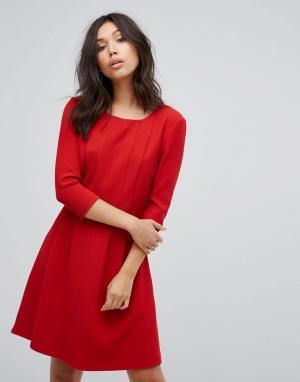 Платье со складками Boss Casual-Красный Casual