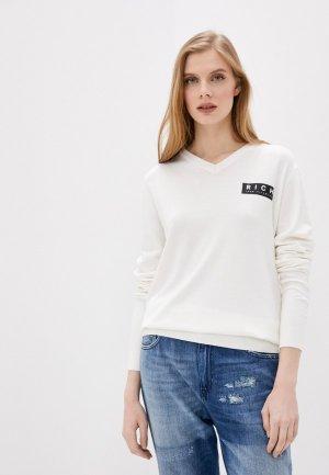 Пуловер Rich John Richmond. Цвет: белый