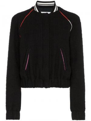 Куртка-бомбер на молнии с логотипом MSGM. Цвет: черный