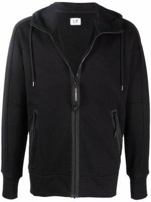 Zipped drawstring hoodie C.P. Company. Цвет: черный