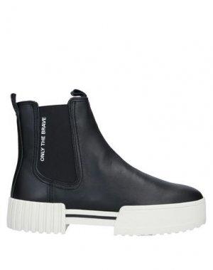 Полусапоги и высокие ботинки DIESEL. Цвет: черный