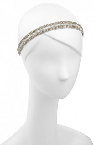 Повязка для волос Deepa Gurnani. Цвет: серебряный