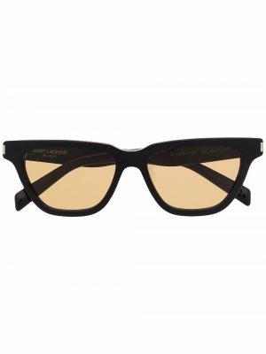 Солнцезащитные очки SL 462 в оправе бабочка Saint Laurent. Цвет: черный