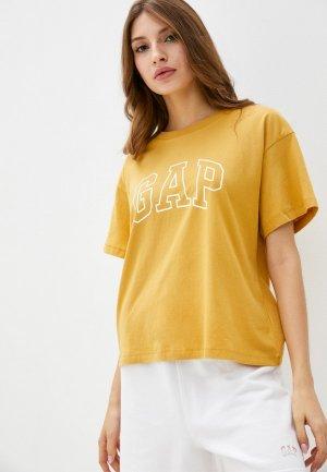 Футболка Gap. Цвет: желтый