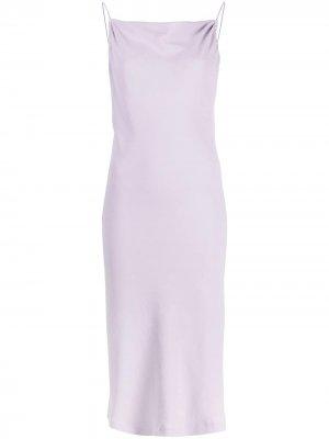 Платье миди Morphea с квадратным вырезом IRO. Цвет: фиолетовый