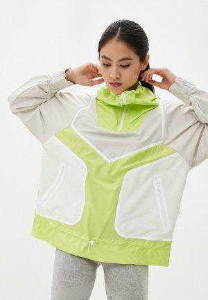 Ветровка adidas by Stella McCartney ADIZERO Jacket. Цвет: зеленый