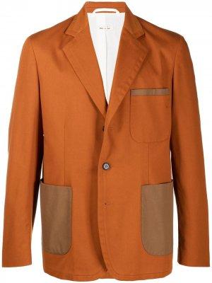 Однобортный пиджак Marni. Цвет: коричневый