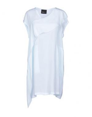 Короткое платье ROQUE ILARIA NISTRI. Цвет: небесно-голубой