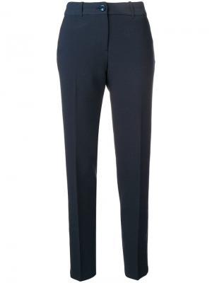 Классические брюки узкого кроя Emporio Armani. Цвет: синий