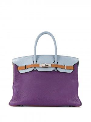 Сумка-тоут Harlequin Birkin 35 2011-го года Hermès. Цвет: фиолетовый