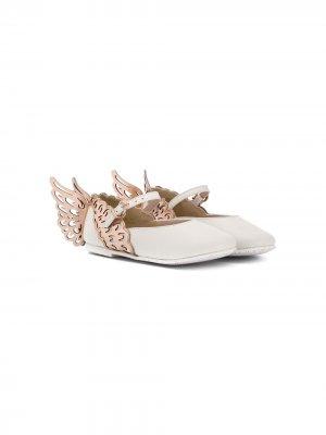 SOPHIA WEBSTER MINI SWM87MSS19088 WHITE/ROSE GOLD Furs & Skins->Leather. Цвет: белый