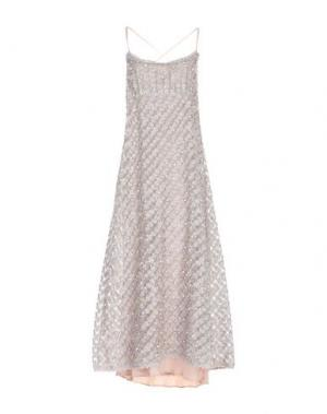 Платье длиной 3/4 AQUILANO-RIMONDI. Цвет: телесный