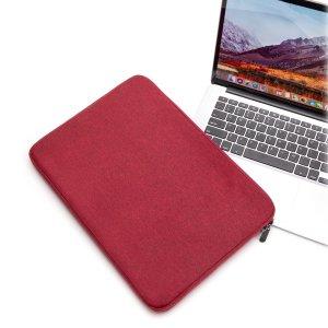 14 дюймов Сумка для ноутбука SHEIN. Цвет: бургундия