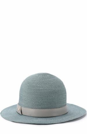 Шляпа с лентой Inverni. Цвет: голубой