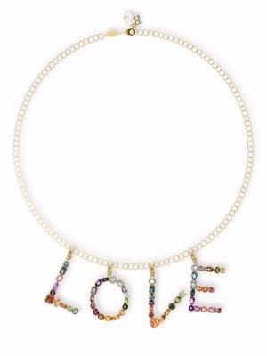 Подвеска Rainbow Alphabet R из желтого золота Dolce & Gabbana. Цвет: золотистый