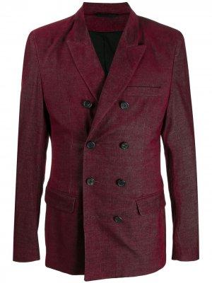 Двубортный пиджак Ann Demeulemeester. Цвет: красный